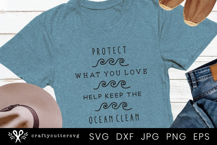 Clean Ocean Svg | Svg file for Cricut and Silhouette