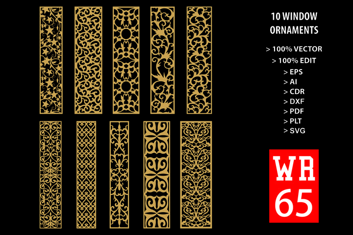 WR 65, Carved Window Ornaments Laser Cutting