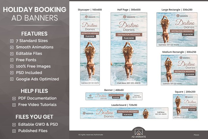 Event Management Ad templates - Animated Banners