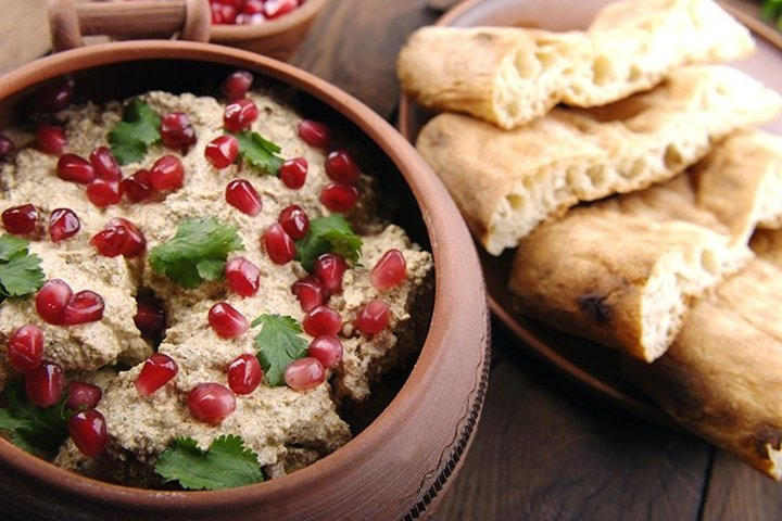 Satsivi with chicken is traditional georgian food