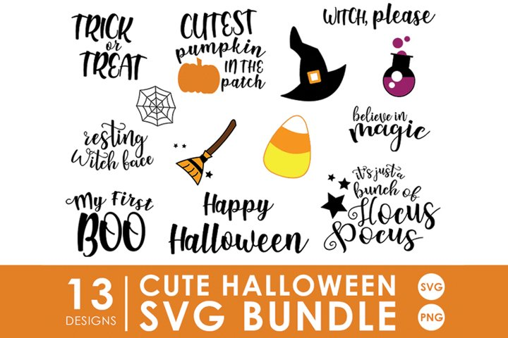 Cute Halloween SVG Bundle