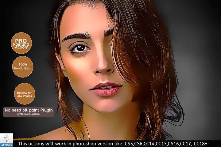 Portrait Painting Photoshop Actions