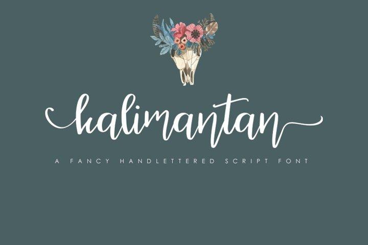 Kalimantan Script Font