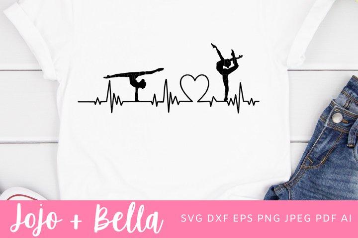 Gymnast Svg | Dancer Svg | Heartbeat Svg