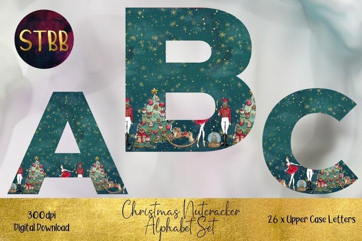 Green Christmas Nutcracker Alphabet Set