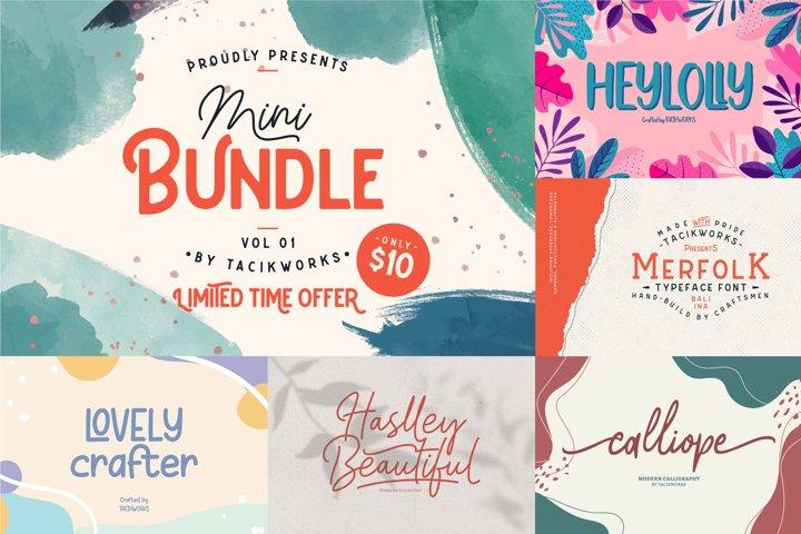 Mini Bundle Vol 01- Best Seller Fonts