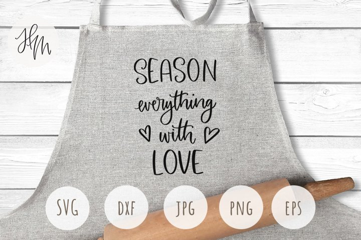 Season everything with love cut file SVG DXF EPS PNG JPG