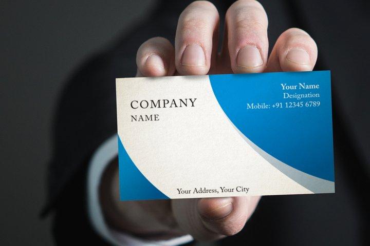 Photorealistic business card mockup set