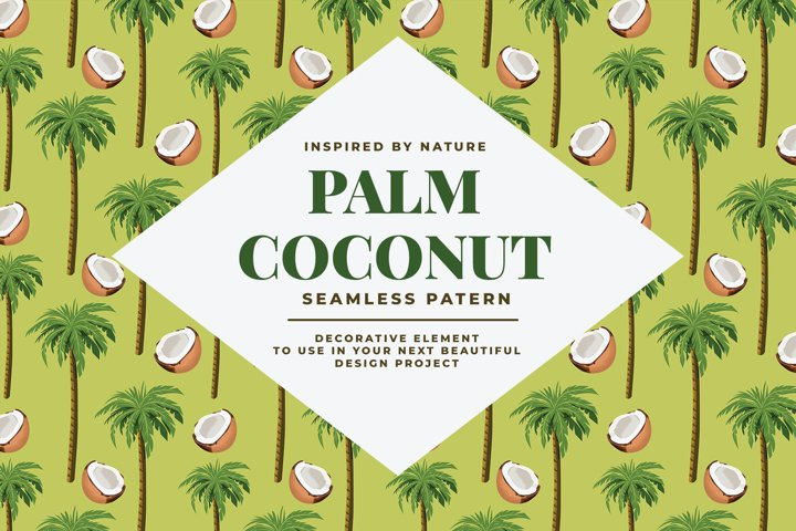 Palm Coconut Seamless Pattern