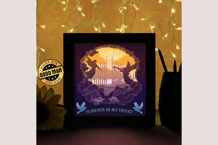 Gate to heaven 3D Paper Cutting Light Box - Shadow Box