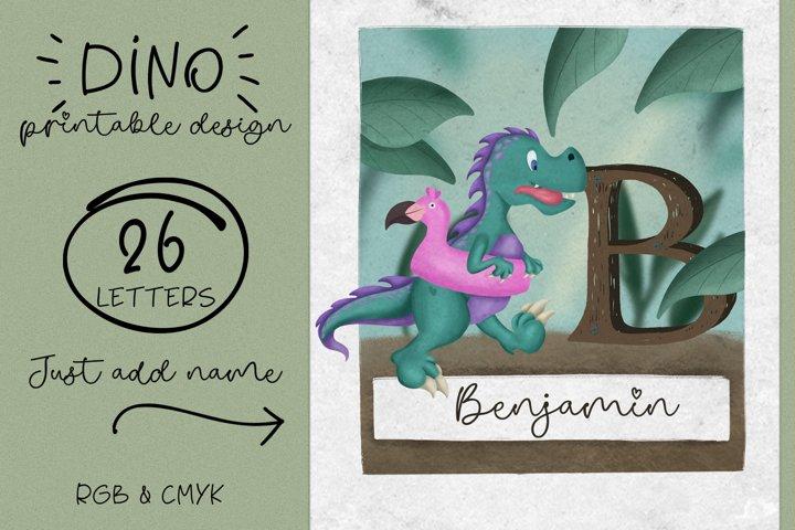 Dino Frame. Sublimation Design. Printable design