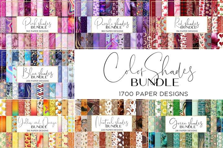 Color Shades BUNDLE digital paper pattern