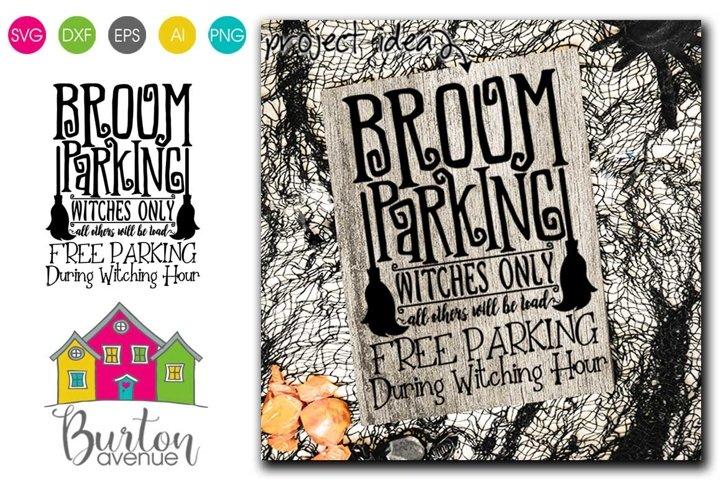 Broom Parking Halloween SVG File | Halloween SVG File