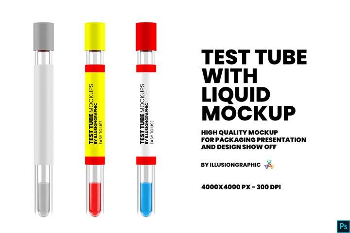 Test Tube With Liquid Mockup