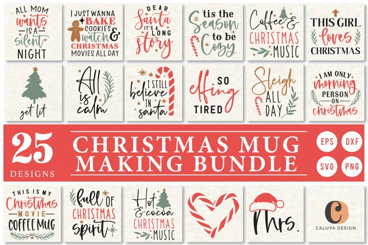 Christmas Mug Making SVG Cut File