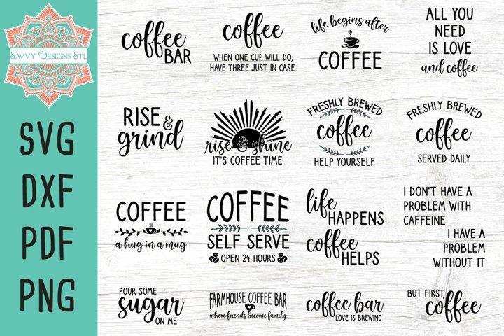 Coffee Bar Cut File Bundle