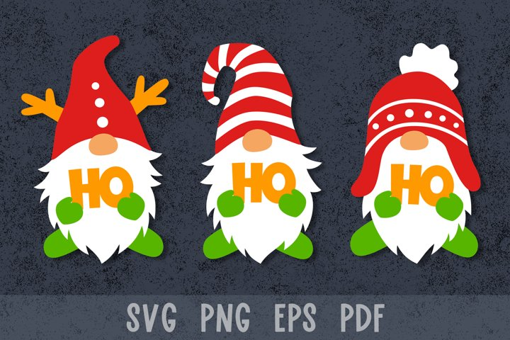 Christmas gnomes svg Christmas paper cut Christmas gnome svg