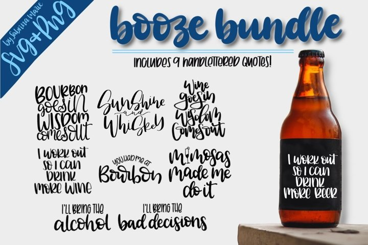 Booze Quote Bundle|Handdrawn|Cut Files|SVGs|PNGs|Alcohol