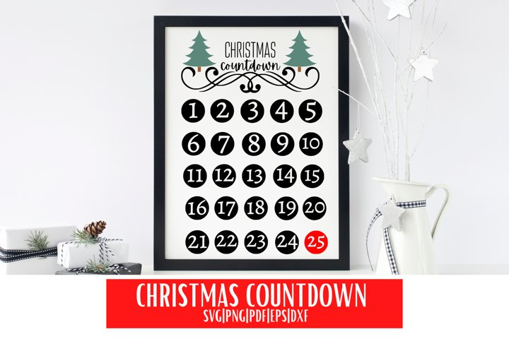 Christmas Countdown SVG | Christmas Countdown Calendar SVG