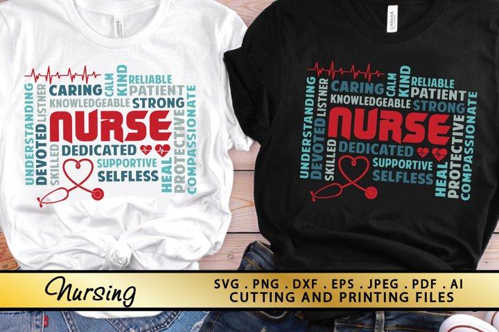 Nurse SVG PNG EPS DXF Nursing SVG Nurse Life SVG Cut files