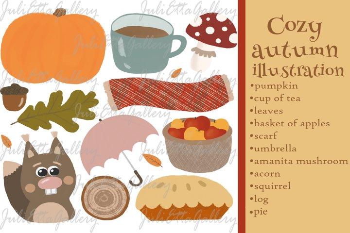 Fall styled set // Scandinavian hygge cozy autumn