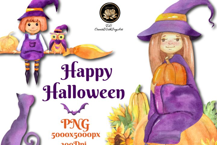 Halloween Party. Halloween Witch set.