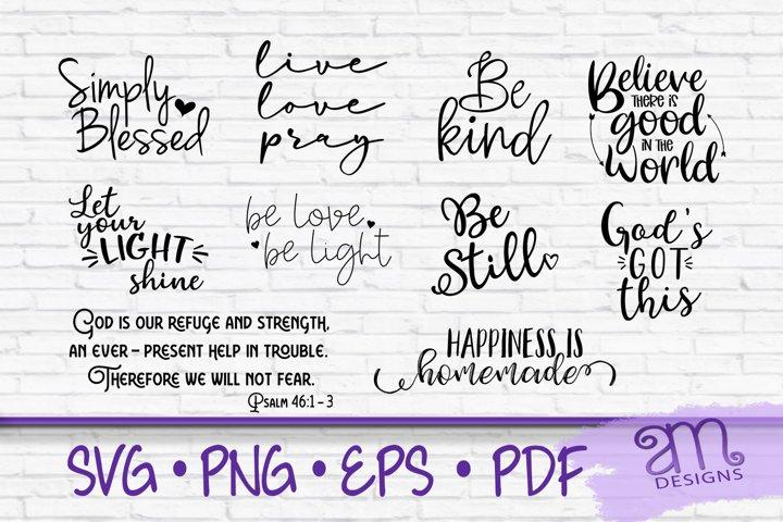 Faith Quote Bundle SVG, Inspiration Svgs, Motivational SVG