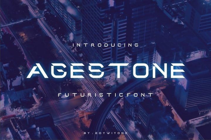 Agestone - Futuristic Font