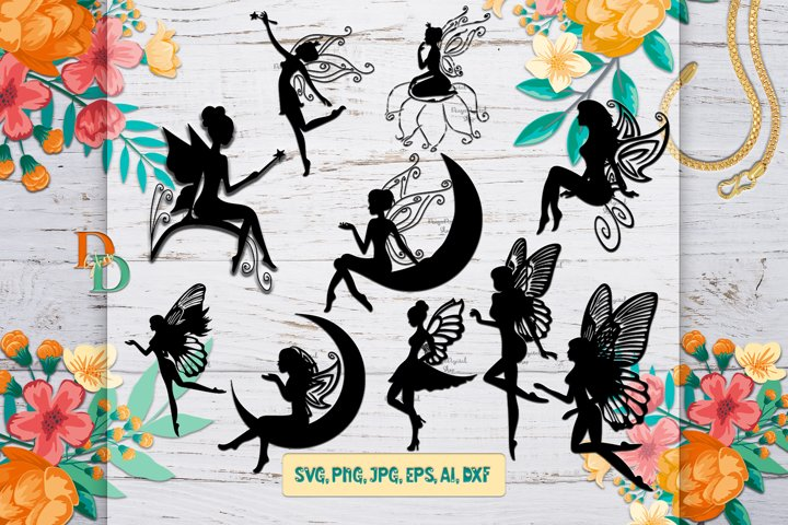 Fairies Download SVG, Fairy printable digital, Fairies Image