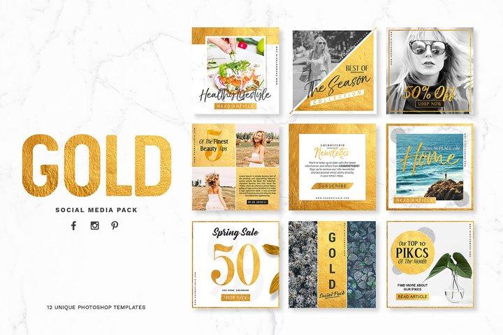 GOLD Social Media Pack
