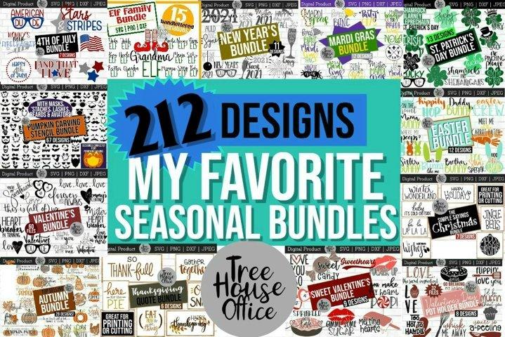 Seasons and Holidays Bundle SVG JPEG PNG DXF