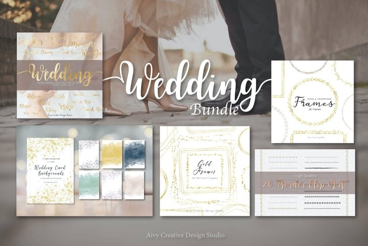 Wedding Bundle Graphics and Backgrounds | Invitation