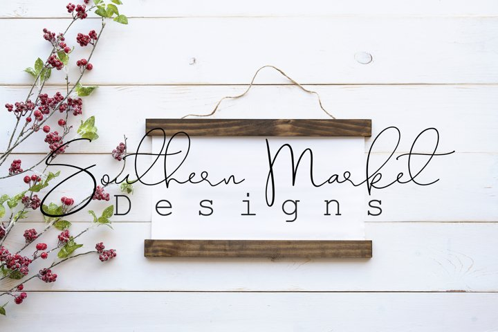 Christmas Canvas Banner Hanging Sign Mock Up Styled Stock Ph