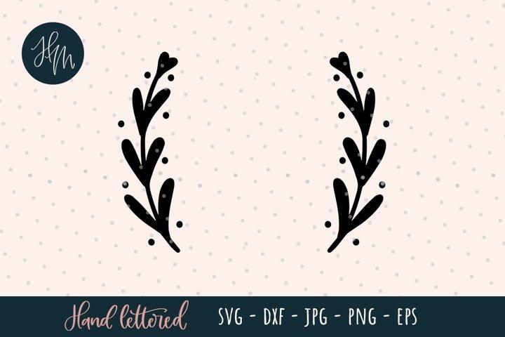 Laurel wreath SVG cut file