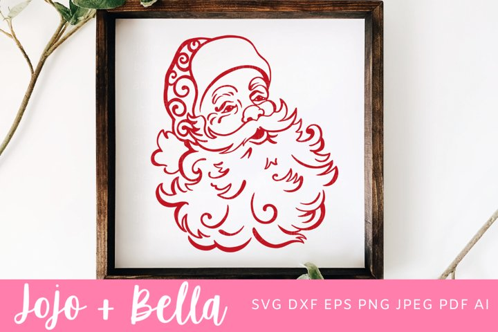 Santa Svg | Father Christmas Svg | Christmas Svg