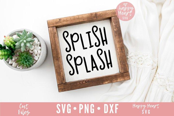 Splish Splash SVG - Bathroom SVG