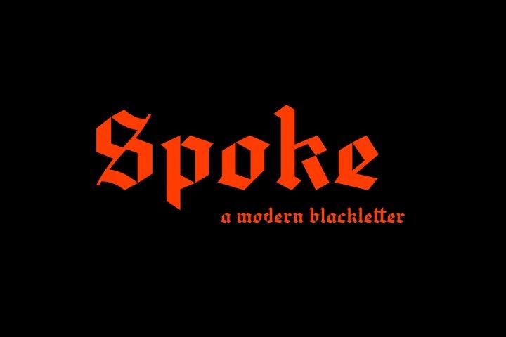 Spoke - Blackletter Typeface