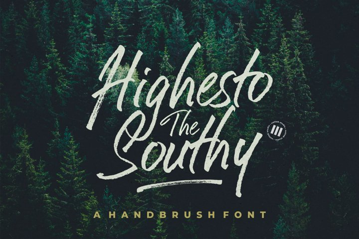 Highesto The Southy - A Hand Brush Font