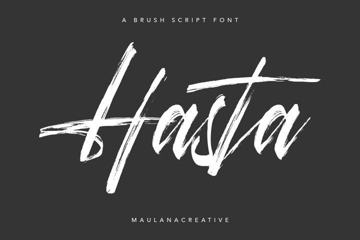 Hasta Brush Script Font