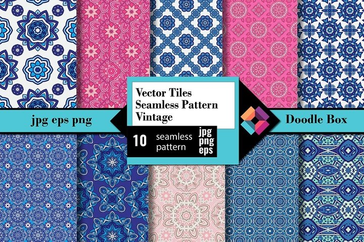 Vector Tiles Seamless Pattern Vintage