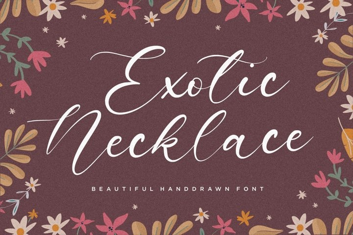 Exotic Necklace Beautiful Handdrawn Font