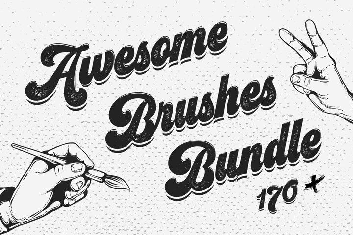 170 Adobe Illustrator Brushes Big Bundle