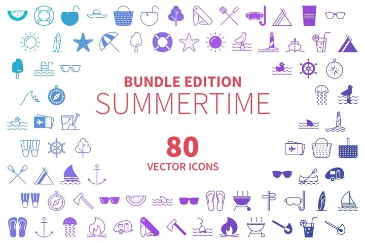 Summertime icons bundle