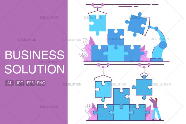 Business solution puzzle.