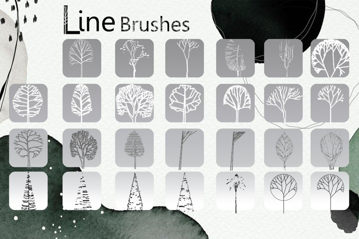 Line Tree Brushes