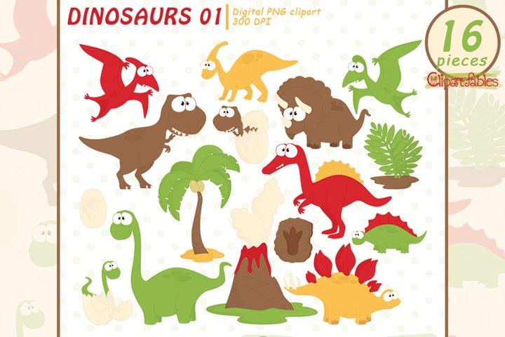 GOOD DINOSAURS clipart, Dino clip art - INSTANT, Printable