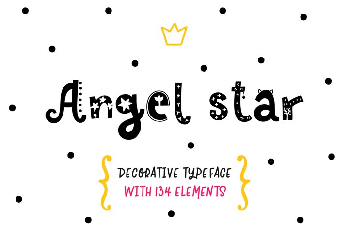 Angel Star - Decorative Typeface