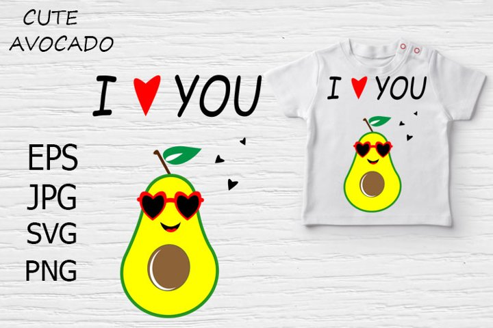 I love you, Cute Avocado.