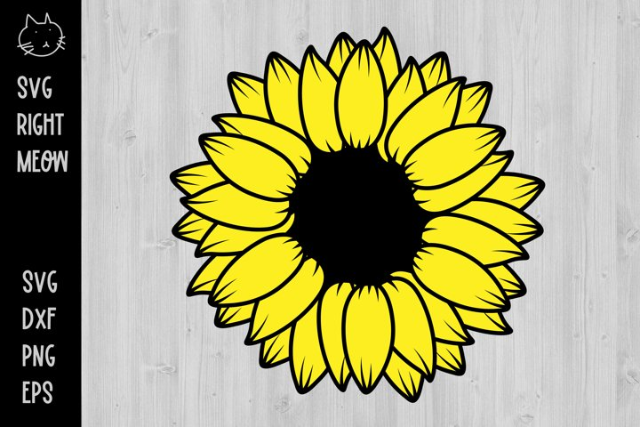 Sunflower SVG, Sunflower Sublimation SVG