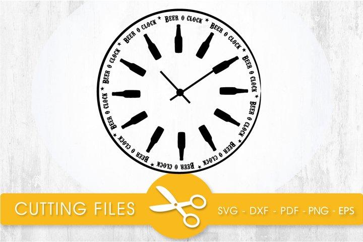 beer oclock svg cutting file, svg, dxf, pdf, eps